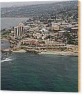 San Diego Shoreline From Above Wood Print