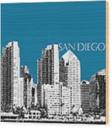 San Diego Skyline 1 - Steel Wood Print