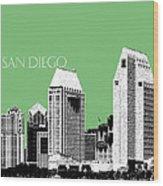 San Diego Skyline 2 - Apple Wood Print