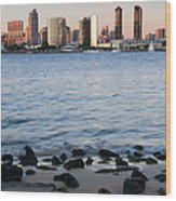 San Diego Skyline, From Coronado Island Wood Print