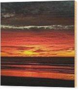 San Diego Sunset Wood Print