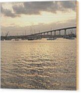 San Diego To Coronado Card Wood Print