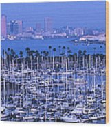 San Diego Twilight Wood Print