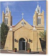 San Felipe Church - Old Town Albuquerque   Wood Print