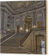 San Fran City Hall Wood Print