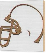 San Francisco 49ers Helmet Wood Print