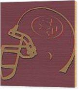 San Francisco 49ers Helmet1 Wood Print