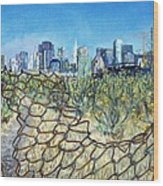 San Francisco And Flowery Vagabond Path Of Yesterday Wood Print