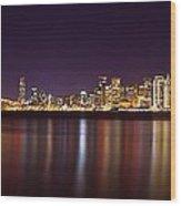 San Francisco At Nights Wood Print