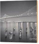 San Francisco Bay Bridge Wood Print by Colin and Linda McKie