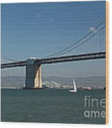 San Francisco Bay Bridge West Span Vii Wood Print by Suzanne Gaff