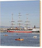 San Francisco Boats Wood Print