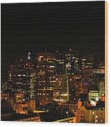 San Francisco By Night Wood Print