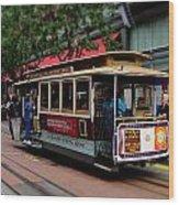 San Francisco Cable Car Wood Print