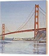 San Francisco California Golden Gate Bridge Wood Print