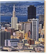 San Francisco Wood Print by Camille Lopez