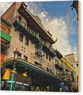 San Francisco - Chinatown 003 Wood Print by Lance Vaughn