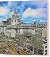 San Francisco City Hall 5d22507 Photoart Wood Print
