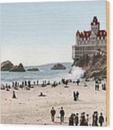 San Francisco Cliff House 1902 Wood Print