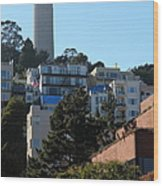San Francisco Coit Tower At Levis Plaza 5d26192 Wood Print