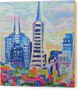 San Francisco Colors Wood Print