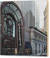 San Francisco Crocker Galleria - 5d20596 Wood Print by Wingsdomain Art and Photography