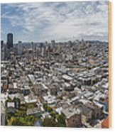 San Francisco Daytime Panoramic Wood Print