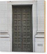 San Francisco Emporio Armani Store Doors - 5d20538 Wood Print