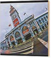San Francisco Ferry Building Giants Decorations. Wood Print