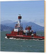 San Francisco Fire Department Fire Boat Wood Print