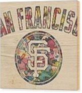 San Francisco Giants Logo Vintage Wood Print