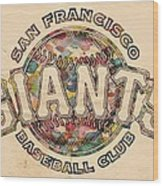 San Francisco Giants Poster Vintage Wood Print
