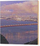 San Francisco Golden Gate Bridge At Dusk Wood Print