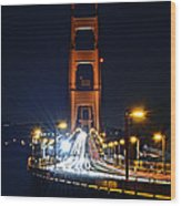 San Francisco - Golden Gate Bridge From North Vista Point Wood Print