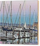 San Francisco Harbor At Pier 39 Wood Print by Artist and Photographer Laura Wrede
