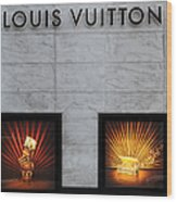 San Francisco Louis Vuitton Storefront - 5d20546-2 Wood Print by Wingsdomain Art and Photography