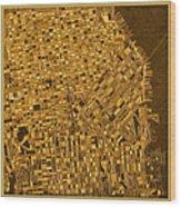 San Francisco Map Antique 3 Wood Print