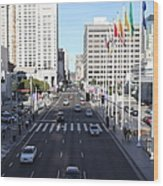 San Francisco Moscone Center And Skyline - 5d20515 Wood Print by Wingsdomain Art and Photography