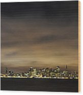 San Francisco Nightscape Wood Print