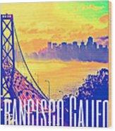San Francisco Postcard Wood Print