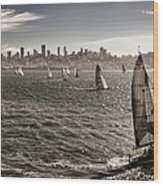 San Francisco Sails Wood Print