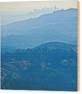 San Francisco Skyline From Mount Tamalpias-california Wood Print