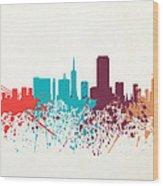 San Francisco Skyline Paint Wood Print