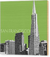 San Francisco Skyline Transamerica Pyramid Building - Olive Wood Print by DB Artist