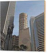 San Francisco Skysrappers Wood Print