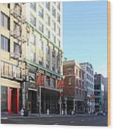 San Francisco Stockton Street At Union Square - 5d20564 Wood Print by Wingsdomain Art and Photography