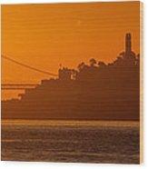 San Francisco Sunrise Wood Print