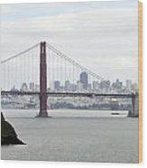 San Francisco Through The Golden Gate Wood Print