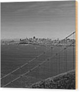 San Francisco Through The Golden Gate Bridge Wood Print by Twenty Two North Photography