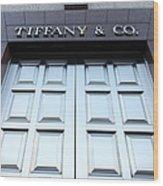 San Francisco Tiffany And Company Store Doors - 5d20562 Wood Print